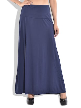 blue Cotton Skirt