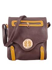 Attractive Brown Sling Bag - Bags Craze