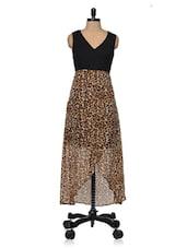 Black Printed High Low Maxi Dress - Magnetic Designs
