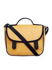 Yellow Sunflap Sling Bag - La Volsa
