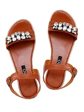 brown Leather sandals -  online shopping for sandals
