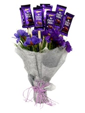 Celebration With Flower & Chocolate - Gifts By Meeta