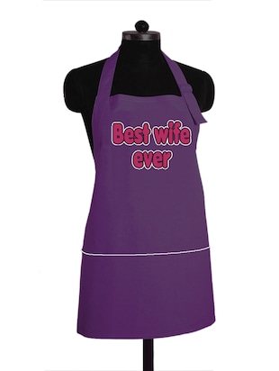 """ Best wife ever"" printed  Kitchen Apron With Adjustable strap"