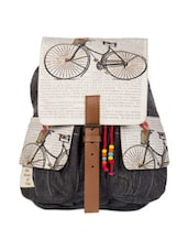 Cycle print backpack -  online shopping for backpacks