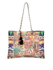 Egyptian Print Tote Handbag - The House Of Tara