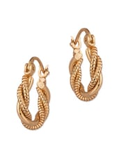Gold Tone Pretty Pair Of Hoop Earrings - Voylla