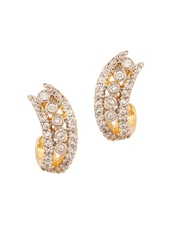 Gold Plated Pair Of Studs Embellished With Cz Stones - Voylla