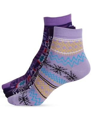 Set of 4 multi colored cotton pair of socks