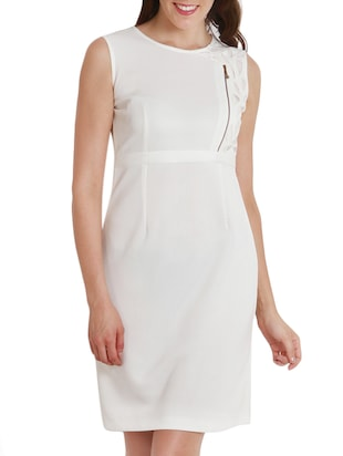 solid white casual Dress