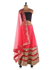 Net Lehenga With Sequins Work - Ethnictrend