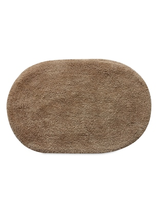 Brown Color Oval Cotton Bathmat -  online shopping for bath mats