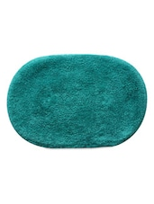 Teal Color Oval Cotton Bathmat -  online shopping for bath mats