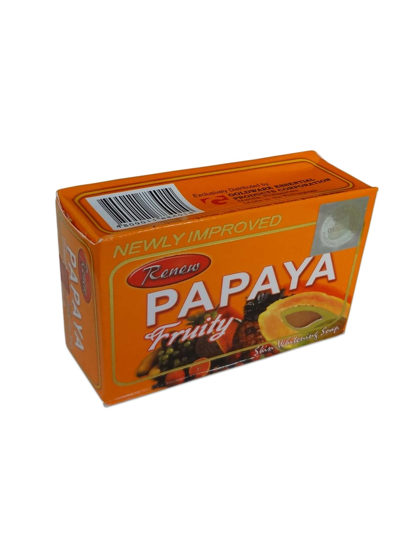 Natural Color, Papaya Herbal Fruity Soap For Skin Whitening And Dark Spots  With Natural Extracts - By