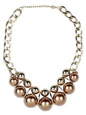 Gold,copper Brass Necklace - By