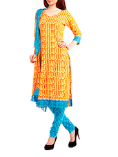 Cotton Yellow Salwar Suit Dress Material - Pinkshink