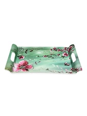 Floral Printed Serving Tray With Handle - VALERIO