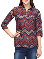 Multicolor Polyester Printed Top - By