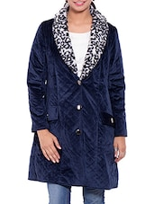 Blue Velvet Winter Coat - By