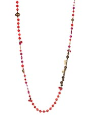 Glass & Metal Beads Necklace - Mesmerizink
