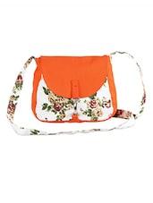 Canvas Floral Sling Bag - Vogue Tree