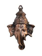 Metal Wall Hanging Of Lord Ganesha - ECraftIndia