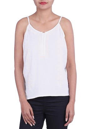 WHITE MOSS color cotton Top