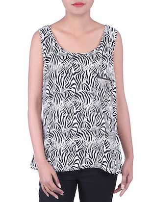 BLACK,WHITE color cotton Top