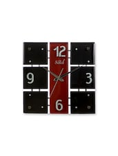 Red,black Wood Wall Clock - By