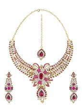 Pink Brass Necklace - By
