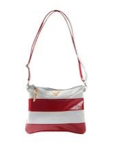 Funky Maroon And White Sling Bag - HARP