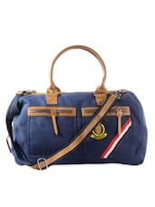 Navy Blue Casual Duffle Bag - HARP