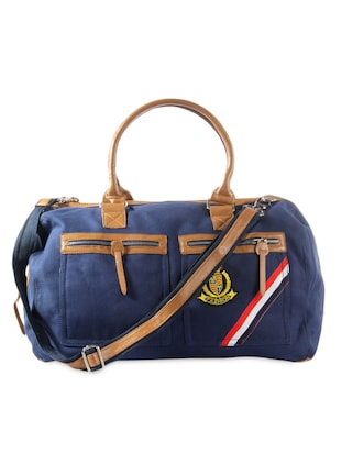 Navy blue casual duffle bag