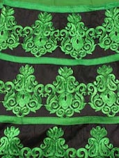 Embroidered Green Semi-Stitched Anarkali Suit - ADAH