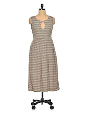 Poly Crepe Round Neck Sleeveless Casual Dress - Meira