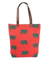 Orange Tote Bag - The Kala Shop