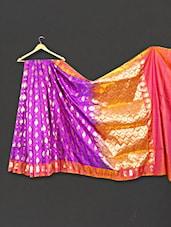 Multi Color Woven Zari Work Art Silk Saree - WEAVING ROOTS