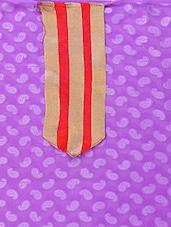 Purple  Pure Jacquard Straight Cut Salwar Suit. - Viva N Diva