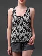 Grey-black Printed Summer Shorts Set - Rose Vanessa