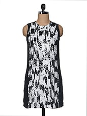 Monochrome Sequined Polyester Dress - I AM FOR YOU