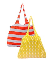Color Block Striped And Sea Horse Printed Hand Bags - Be... For Bag