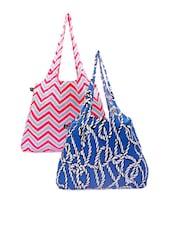 Chevron And Rope Print Handbags - Be... For Bag