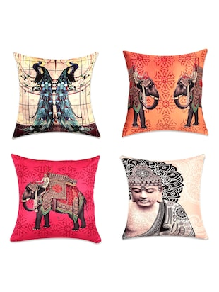 Traditional digital print cushion covers(Set of 4)