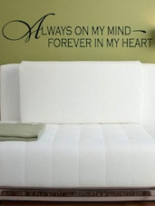 """Always On My Mind..."" Quoted Wall Sticker - My Wall"