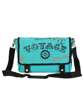 Green Jute Cotton Travel Messenger Bag - THE JUTE SHOP