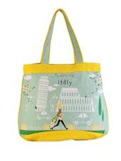 Multicolor Cotton Cartoon Hand Bag - THE JUTE SHOP - 993209