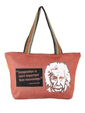Brown Quoted Jute Bag - THE JUTE SHOP