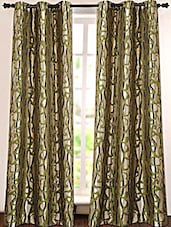 Green Printed Polyester Door Curtain - Deco Essential