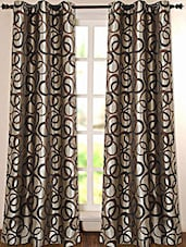 Geometric Printed Polyester Door Curtain - Deco Essential
