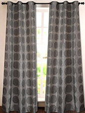 Grey Geometric Printed Polyester Door Curtain - Deco Essential