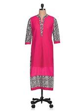 Pink Geometric Printed Cotton Kurta - NAVRITI
